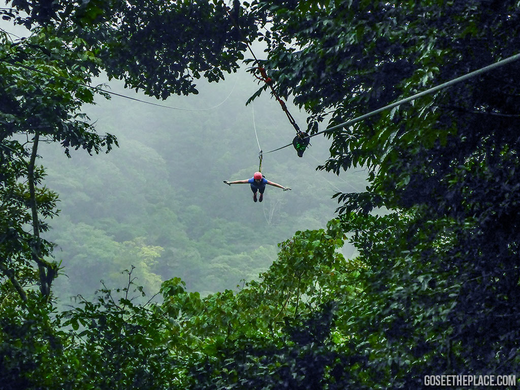 Costa Rica zipline excursion. One of the many zipline tours Costa Rica offers.
