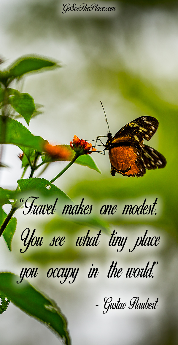 """20 Inspirational Travel Quotes to Live By - """"Travel makes one modest. You see what tiny place you occupy in the world."""" - Gustav Flaubert"""