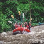 Costa Rica rafting excursion. One of the many excursions that Costa Rica offers.