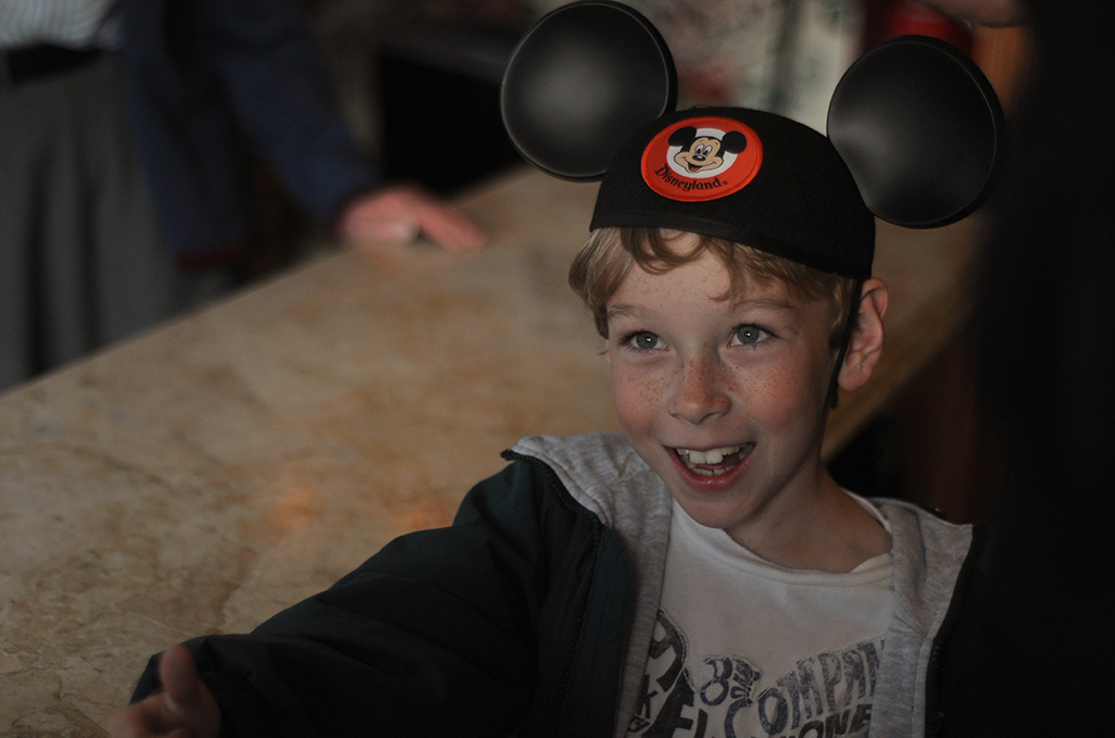 Disneyland Hotels Child with Mickey Ears