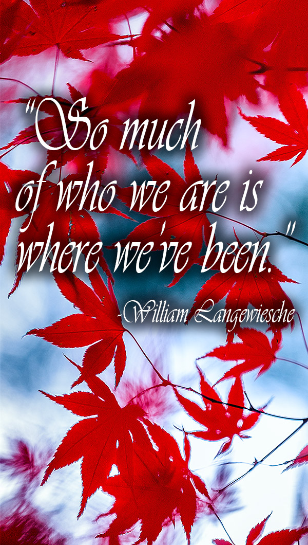"""20 Inspirational Travel Quotes to Live By - """"So much of who we are is where we've been."""" - William Langewiesche"""