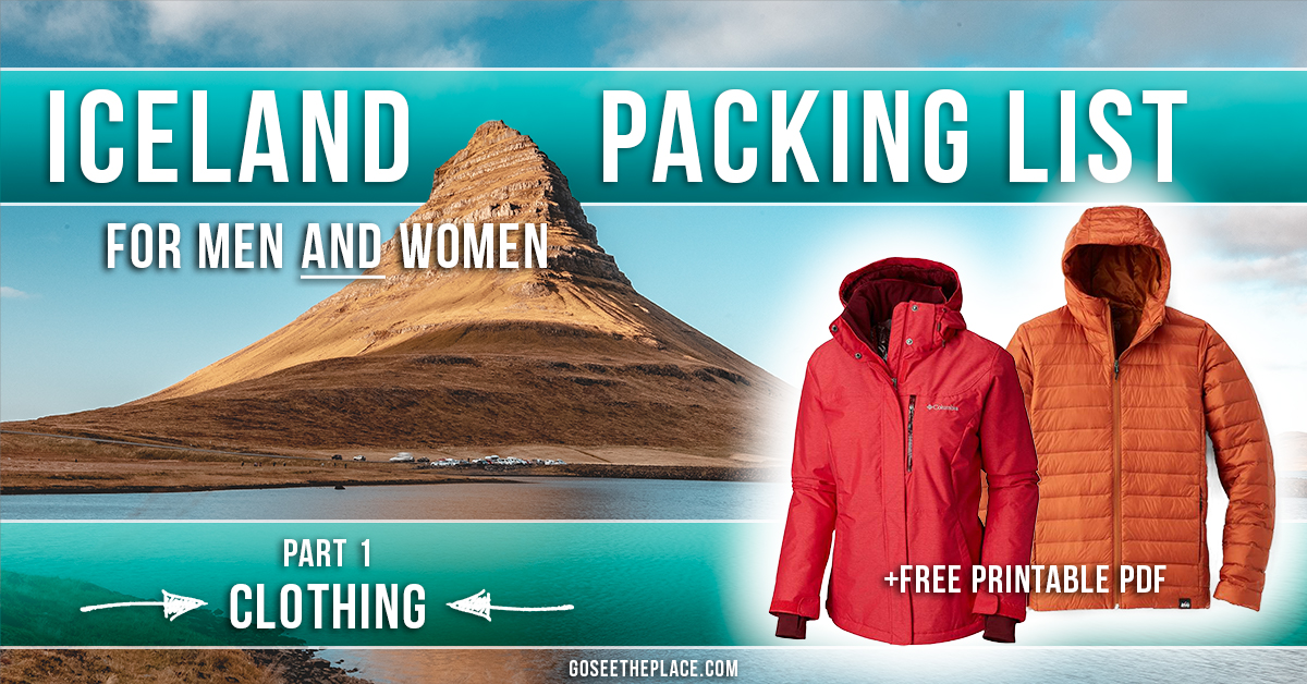 Iceland Packing List for All Seasons in a Campervan - Part 1 Clothing - Facebook