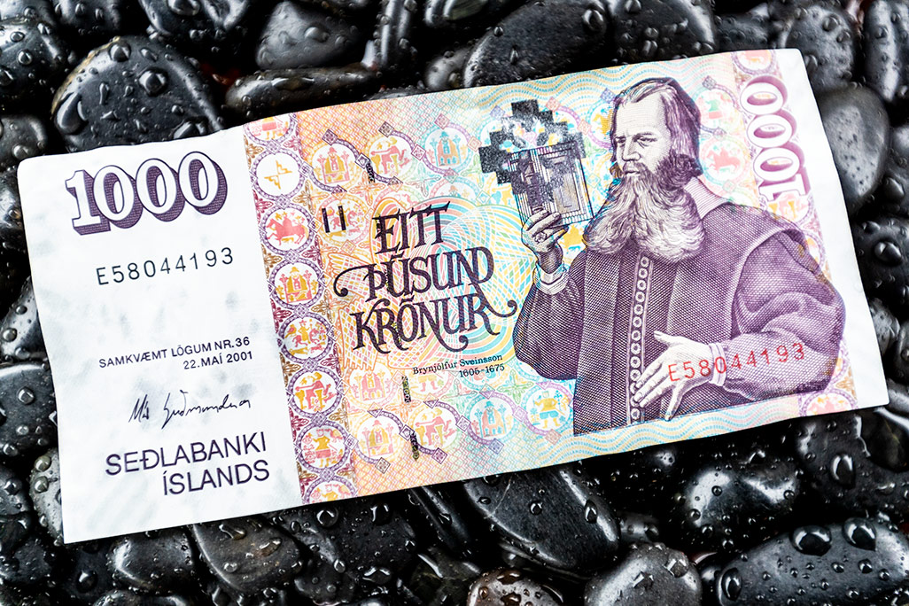 Example of Iceland's cash - the Kronor