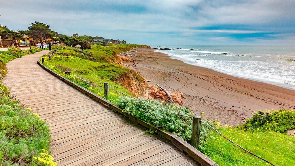 California Highway 1 - Moonstone Beach Boardwalk