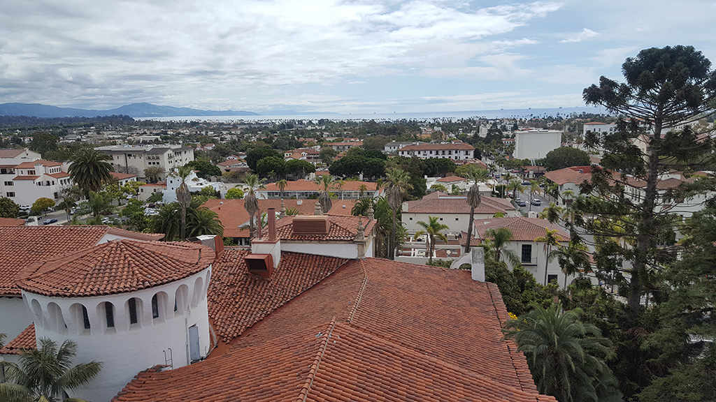 California Highway 1 - Santa Barbara View from Courthouse